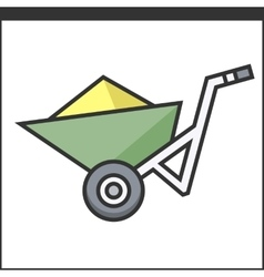 Garden wheelbarrow icon vector image