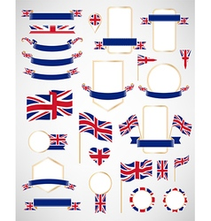 Great Britain flag decoration elements vector image vector image