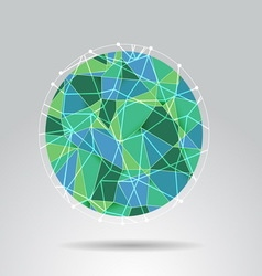 Green polygon ball design background vector image