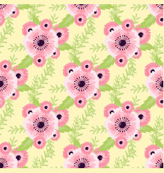 nature flower seamless pattern vector image vector image