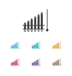 of analytics symbol on growth vector image vector image