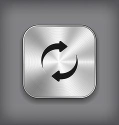 Refreshment - media player icon - metal app vector image vector image