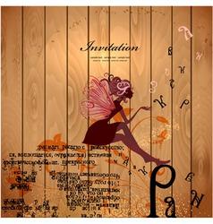 Retro Fairy Invitation Card vector image vector image