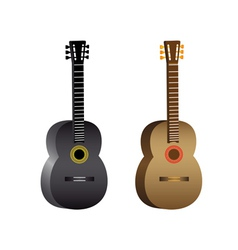 two guitars vector image vector image