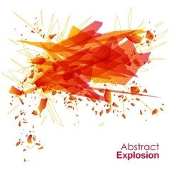 Abstract explosion geometric background vector image