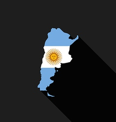 Argentina flag map flat design icon vector image vector image