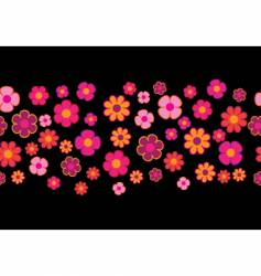 flowers seamless background vector image vector image