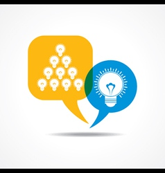light-bulbs in message bubble vector image vector image