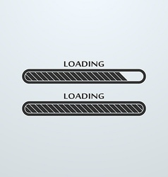 Loading uploading downloading status bar icon vector image vector image