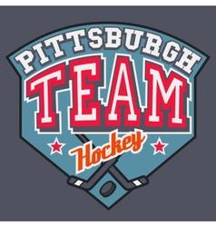 Pittsburgh Hockey Team vector image vector image