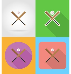 sport flat icons 07 vector image
