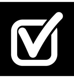 The check icon Checkmark and checkbox yes vector image vector image