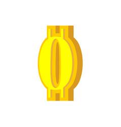 0 numeral bitcoin font zero numeric crypto vector image