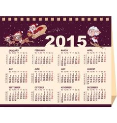 2015 wall calendar vector image