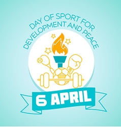 6 April international Day of Sport for Development vector