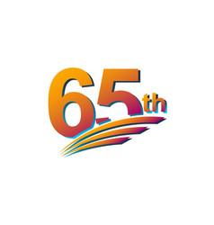 65 th anniversary elegant celebration template vector