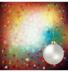 Abstract brown background with Christmas vector image