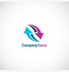 arrow circle color logo vector image