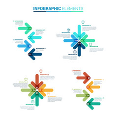 arrow infographic template vector image