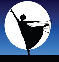 Ballerina on a moonlight vector