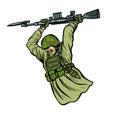 bayonet fighting soldiers at war vector image
