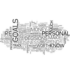 Become your own personal cfo text word cloud vector