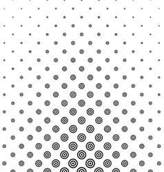 Black and white circle pattern design vector