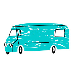 blue van flat design vector image