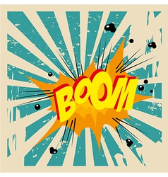 Boom comic over grunge background vector