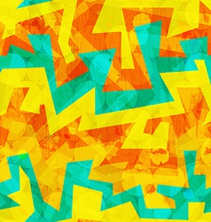 bright yellow graffiti seamless pattern vector image