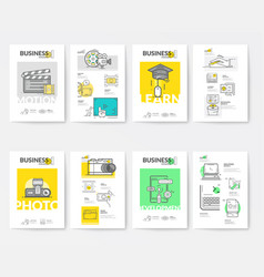 brochure collection templates vector image