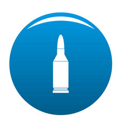 Bullet icon blue vector