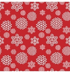 Christmas seamless snowflake vector image