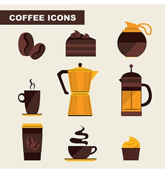 Coffee icon set menu Flat design for menu coffee vector image