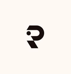 creative professional trendy monogram r logo vector image