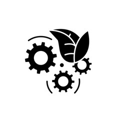 eco technology black icon sign on isolated vector image