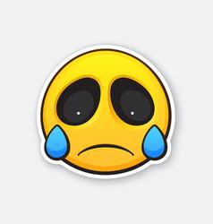 Emoticon for expressing emotion sadness vector