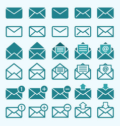 envelope mail icons vector image