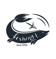 fish with harpoon for fishing vector image