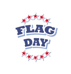 Flag day america logo isolated on white background vector