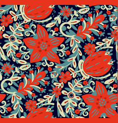 flowers in doodle style vector image