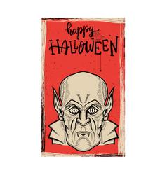 flyer template halloween party evil vampire vector image