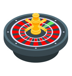 Fortune roulette icon isometric style vector