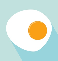 Fried Egg Icon vector image