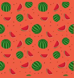 Fruits watermelon seamless patterns vector