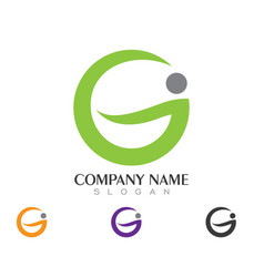 g letter logo business template vector image
