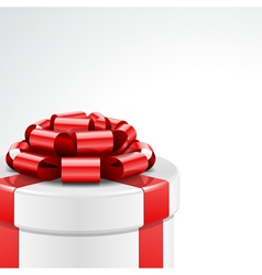 Gift box with bow and light vector image