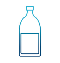 glass bottle with drink vector image