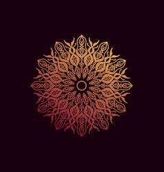 Golden gradient mandala vector