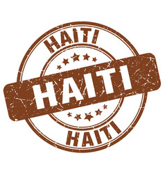 Haiti brown grunge round vintage rubber stamp vector